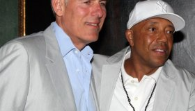 Lyor Cohen and Russell Simmons