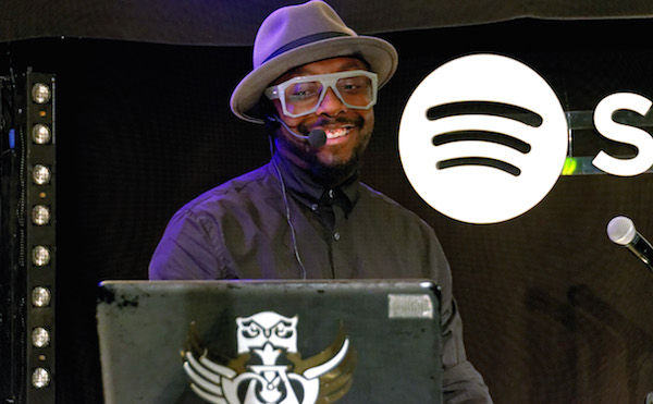 will.i.am performing at the Spotify party