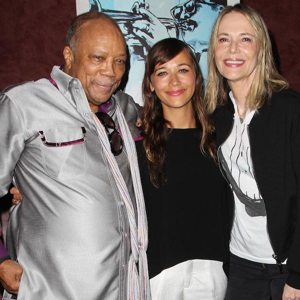 Quincy Jones,Rashida Jones, and Peggy Lipton