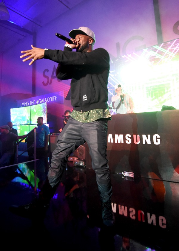 LOS ANGELES, CA - JUNE 26:  Rapper Casey Veggies performs onstage at a Roc Nation curated Samsung exclusive concert at Samsung Studio LA on June 26, 2015 in Los Angeles, California.  (Photo by Michael Buckner/Getty Images for Samsung)