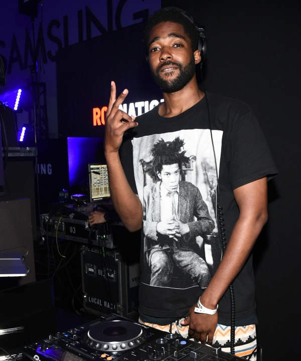 LOS ANGELES, CA - JUNE 26:  DJ Square Biz spins at a Roc Nation curated Samsung exclusive concert at Samsung Studio LA on June 26, 2015 in Los Angeles, California.  (Photo by Michael Buckner/Getty Images for Samsung)