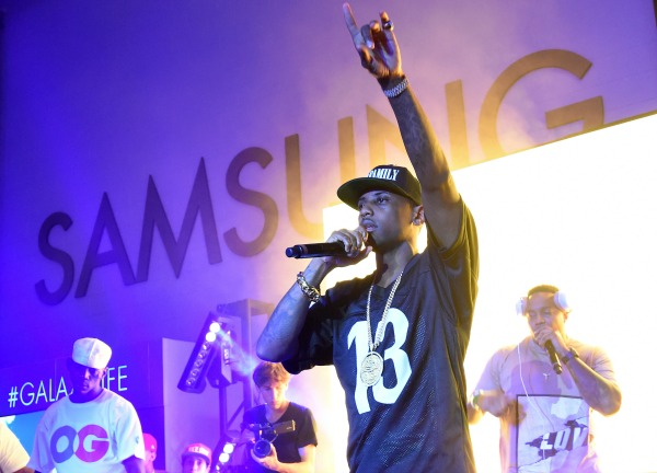 LOS ANGELES, CA - JUNE 26:  Rapper Fabolous performs onstage at a Roc Nation curated Samsung exclusive concert at Samsung Studio LA on June 26, 2015 in Los Angeles, California.  (Photo by Michael Buckner/Getty Images for Samsung)