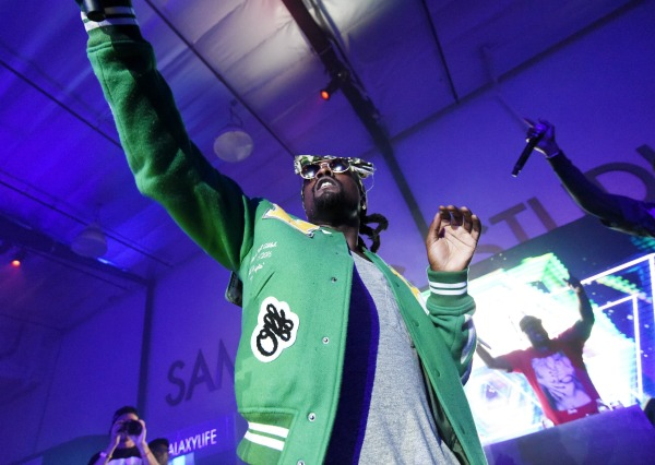 LOS ANGELES, CA - JUNE 26:  Rapper Wale performs onstage at a Roc Nation curated Samsung exclusive concert at Samsung Studio LA on June 26, 2015 in Los Angeles, California.  (Photo by Michael Buckner/Getty Images for Samsung)
