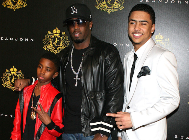 Christian Casey Combs, Sean 'Diddy' Combs and Quincy Brown