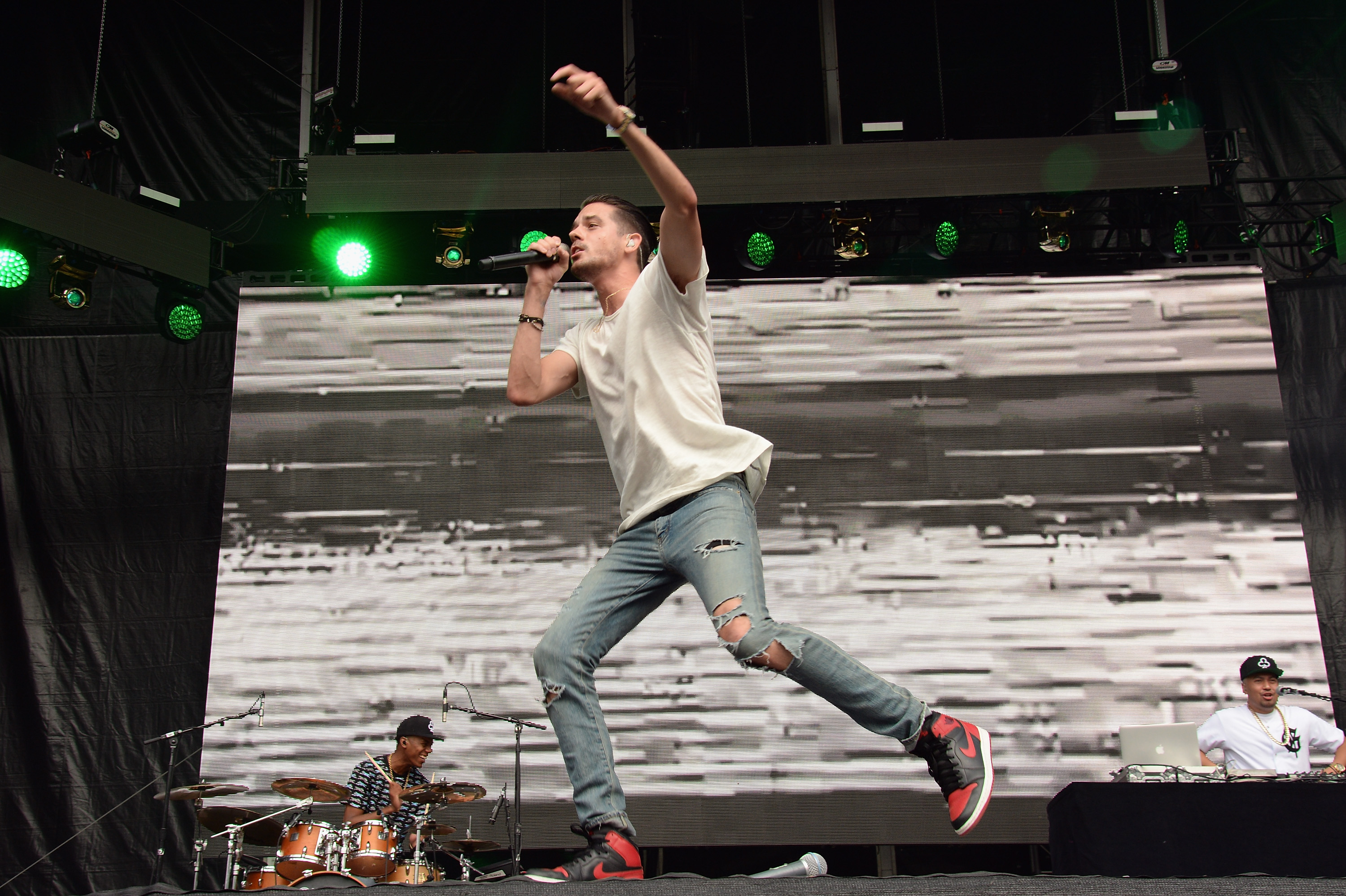 PHILADELPHIA, PA - SEPTEMBER 05:  G-Eazy performs onstage during the 2015 Budweiser Made in America Festival at Benjamin Franklin Parkway on September 5, 2015 in Philadelphia, Pennsylvania.  (Photo by Kevin Mazur/Getty Images for Anheuser-Busch)