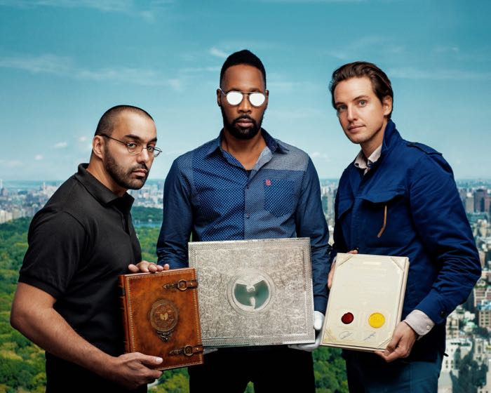 Producers of OUATIS Cilvaringz and the RZA together with Alexander Gilkes of auction house Paddle8.
