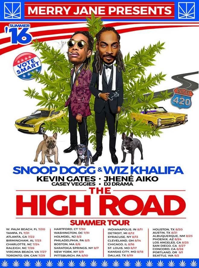 Snoop Dogg Wiz Khalifa The High Road tour