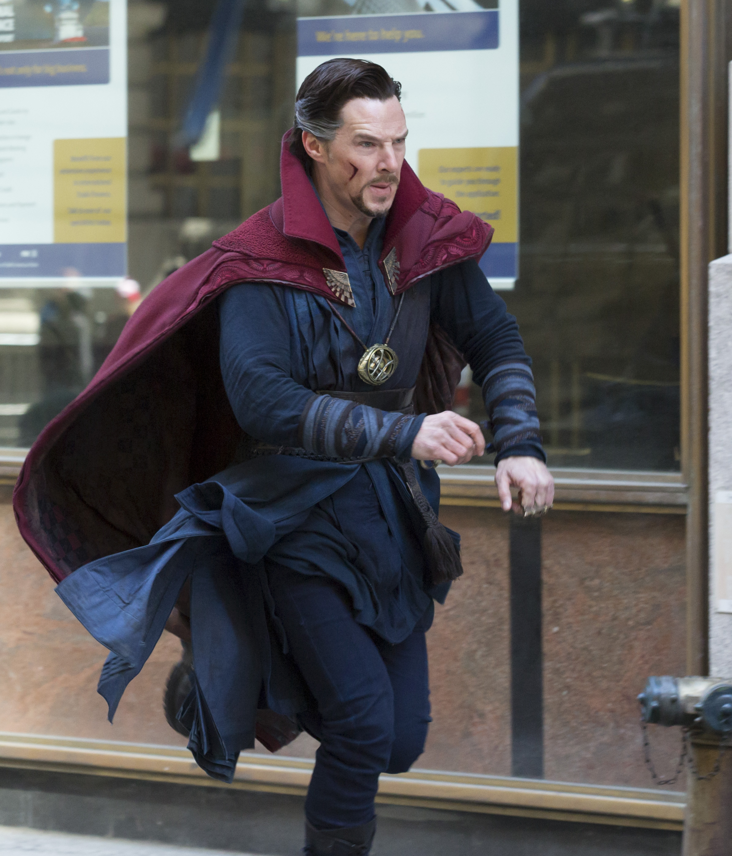 On location with 'Doctor Strange' filming in New York City Featuring: Benedict Cumberbatch Where: New York, New York, United States When: 04 Apr 2016 Credit: WENN.com