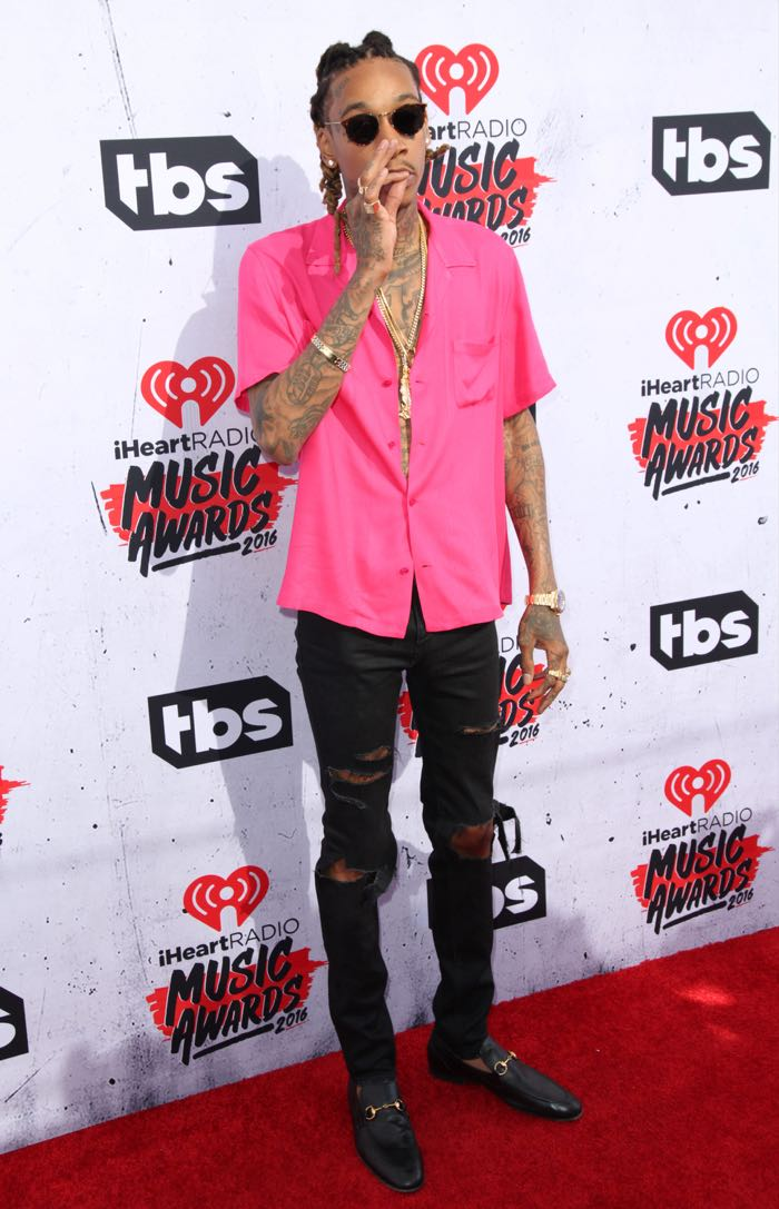 Celebrities attend iHeartRadio Music Awards at The Forum. Featuring: Wiz Khalifa Where: Los Angeles, California, United States When: 04 Apr 2016 Credit: Brian To/WENN.com
