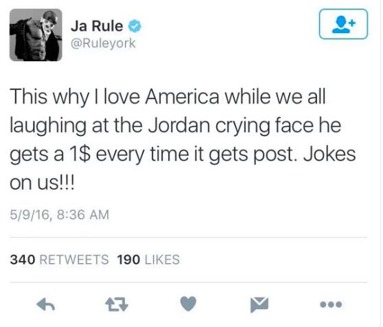 ja rule tweet