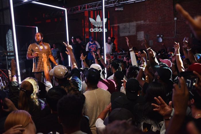 NEW YORK, NY - AUGUST 04: Hip-hop artist Pusha T performs as Adidas Originals presents The Last Encore featuring G.O.O.D Music at The Tunnel on August 4, 2016 in New York City. (Photo by Bryan Bedder/Getty Images for Adidas)
