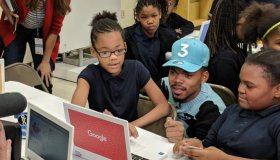 Chance The Rapper and Chicago students