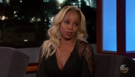 Mary J. Blige during an appearance on ABC's Jimmy Kimmel Live!'