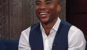 Charlamagne tha God during an appearance on CBS's 'The Late Show with Stephen Colbert.'