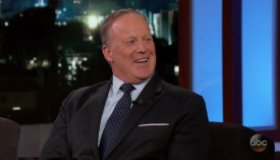 Sean Spicer during an appearance on ABC' Jimmy Kimmel Live!'