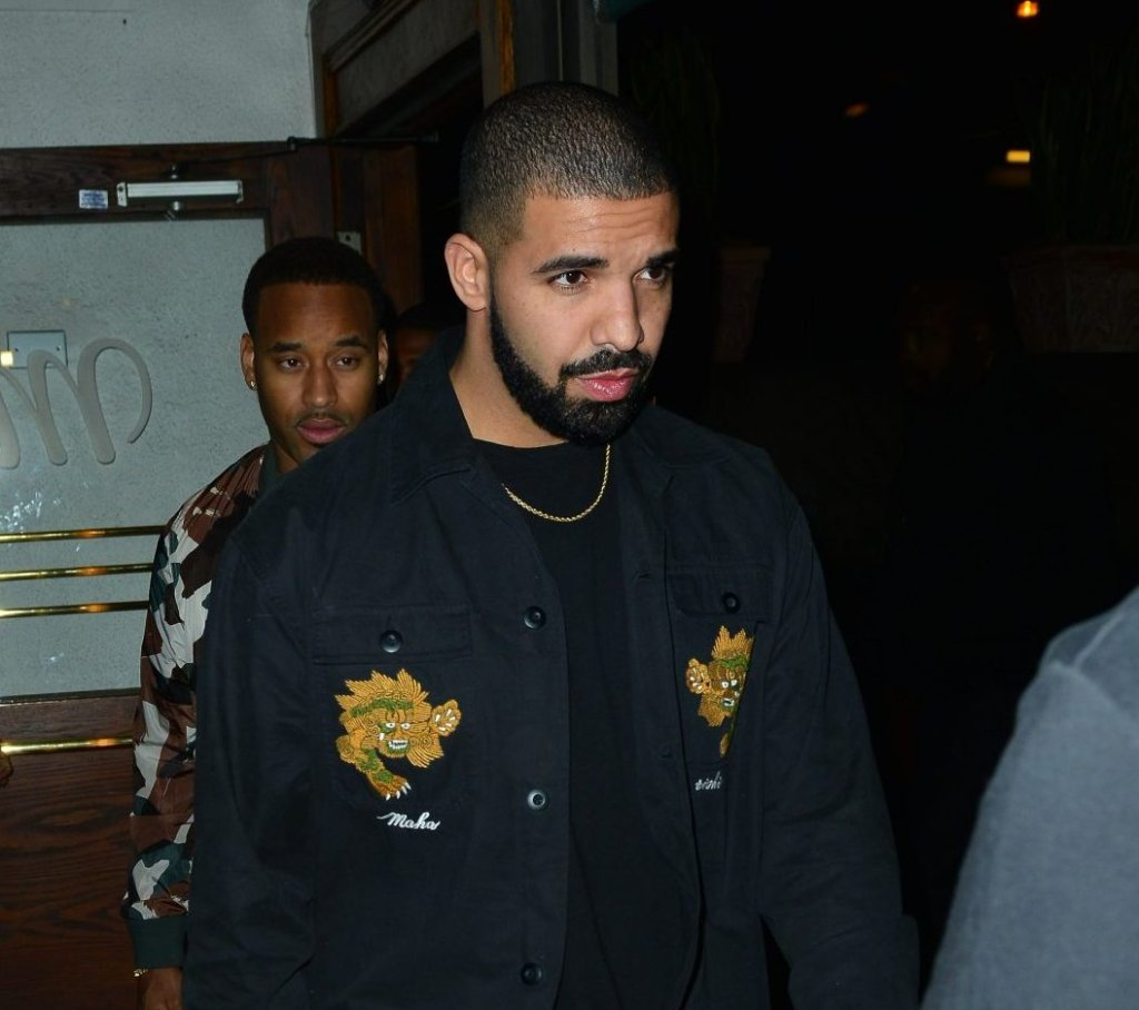 Drake out at Italian restaurant Madeo in Beverly Hills