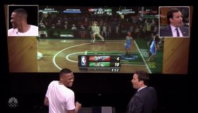 Russell Westbrook during an appearance on NBC 'The Tonight Show Starring Jimmy Fallon.'