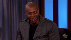 Dave Chappelle during an appearance on ABC's 'Jimmy Kimmel Live!'