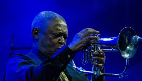 Hugh Masekela performing live