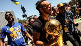NBA's Golden State Warriors victory rally in Oakland