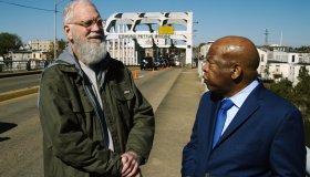 Rep. John Lewis and David Letterman