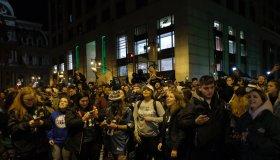 Philadelphia fans celebrate after Super Bowl win