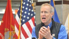 Illinois Governor Bruce Rauner attends Edward Hines Jr. VA Hospital for Veterans' Day Ceremony