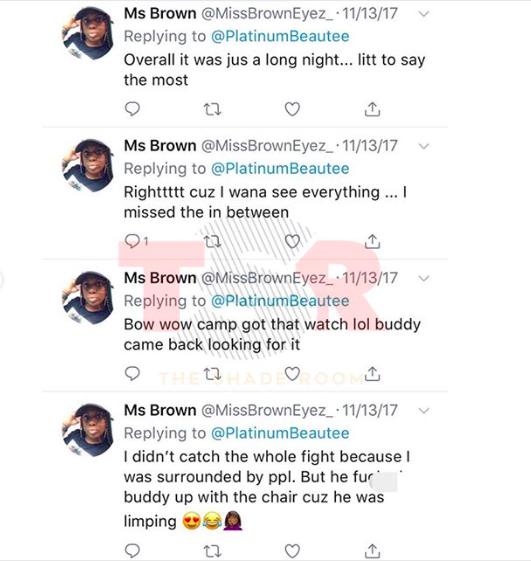 BOW WOW FIGHT TWEETS