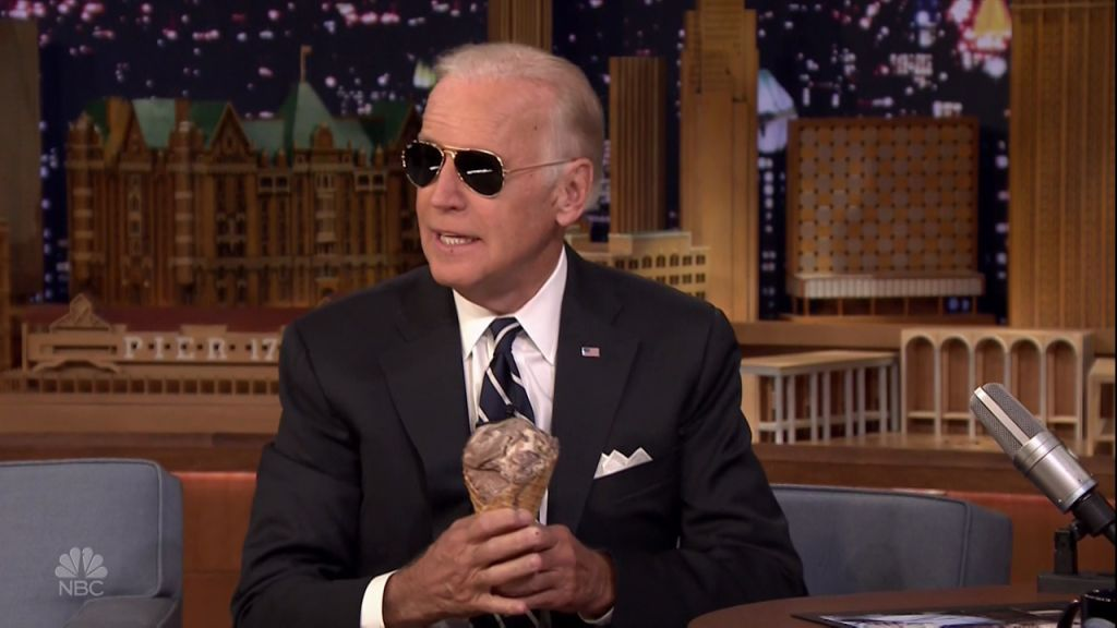 Vice President Joe Biden during an appearance on NBC's 'The Tonight Show Starring Jimmy Fallon.'