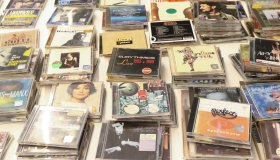 Vinyl records market in Gdansk