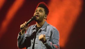 The Weeknd performing at the SSE Hydro