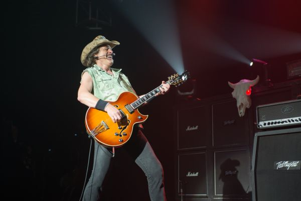Ted Nugent performs live