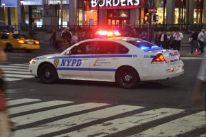 police car on a emergency call - Saheed Vassell shot by police killed