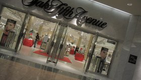 The entrance to Saks Fifth Avenue