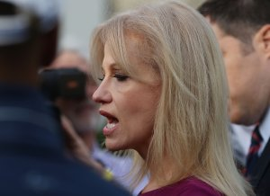 White House Adviser Kellyanne Conway Speaks To The Media At The White House
