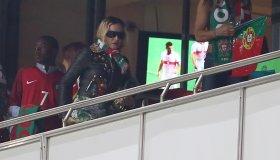 US singer Madonna Attends The Football Match Portugal v Switzerland