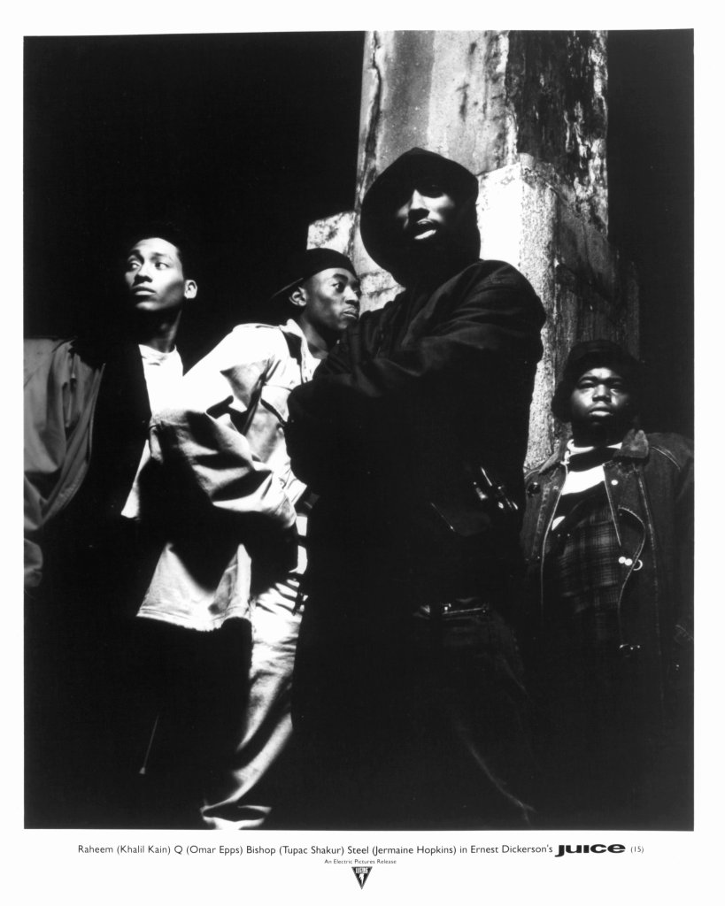 Omar Epps And Tupac Shakur In 'Juice'