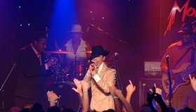 Singer Prince performs live in concert
