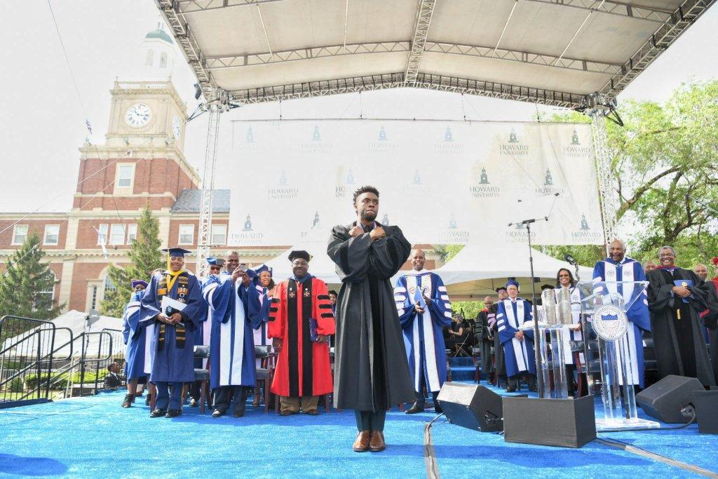 Chadwick Boseman at Howard 2