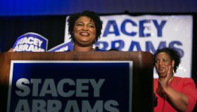 Georgia Democratic Gubernatorial Candidate Stacey Abrams Holds Primary Night Event In Atlanta
