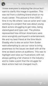 Drake IG Story Pusha T Blackface Response