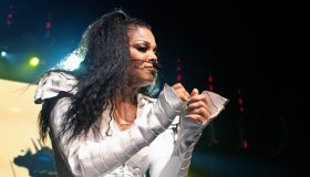 Janet Jackson Performs live at Olympia Hall in Paris in France