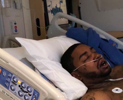 Lil Scrappy in hospital