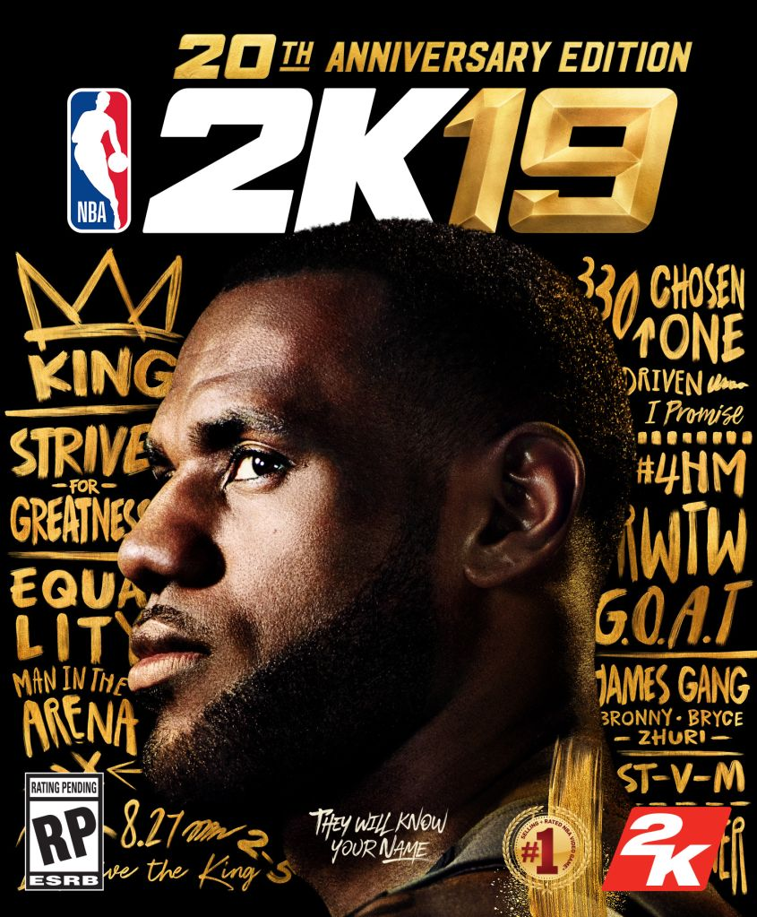 NBA 2K19 20TH Anniversary Edition LeBron James Cover