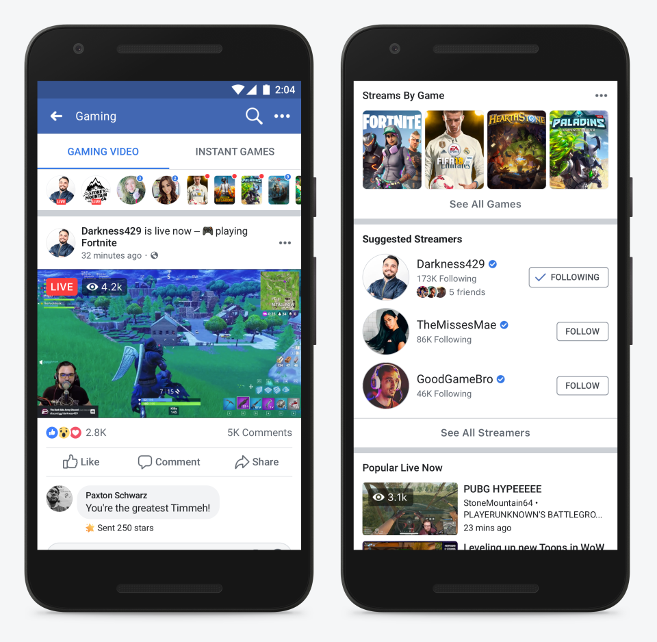 Facebook Launches Fb.gg Gaming Hub