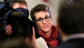 STRATHAM, NH - FEBRUARY 5: Rachel Maddow, host of The Rachel Ma