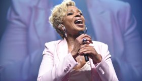 Mary J. Blige performs at the BCRF gala in NYC