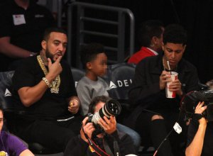 Celebrities spotted at the Los Angeles Lakers game