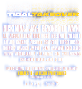 Sprint X TIDAL Takeovers