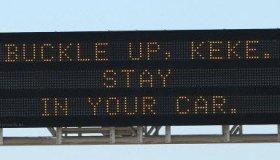 Oklahoma DOT Keke In My Feelings Challenge Road Sign Warning